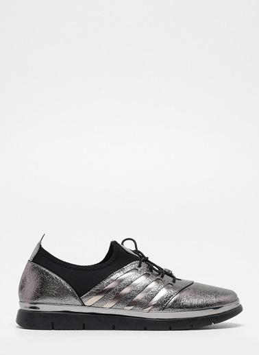 F By Fabrika Kadın Siyah Sneakers BENETO Gri